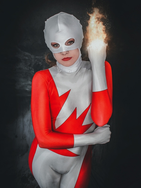 Alpha Flight Guardian Vindicator Suit Versión femenina Disfraz de Cosplay