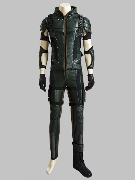 Deluxe Green Arrow Season 4 Oliver Queen Cosplay Costume