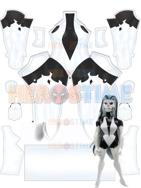 Disfraz de Cosplay femenino Sexy Silver Banshee Monster Mayhem