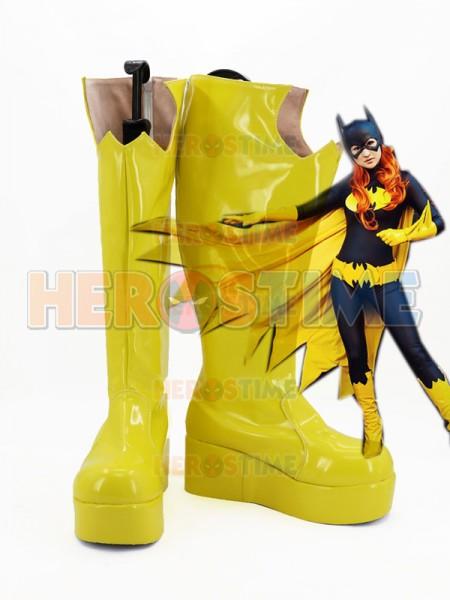 Halloween Batgirl Yellow Platform High Boots