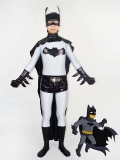 Classic Grey & Black Batman Superhero Costume