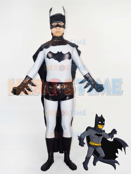 Classic Grey & Black Batman Superhero Costume