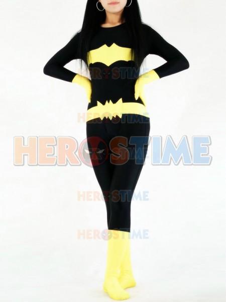 DC Comics Black & Yellow Batman Spandex Superhero Costume