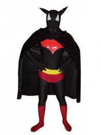 DC Comics Superhero Batman Black & Red Superhero Costume