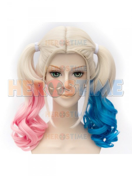 Batman Movie Harleen Quinzel Pink And Blue Cosplay Wig Harley Quinn Suicide Squad Wig