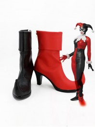Newest Cool Harley Quinn Super Villain Cosplay Boots