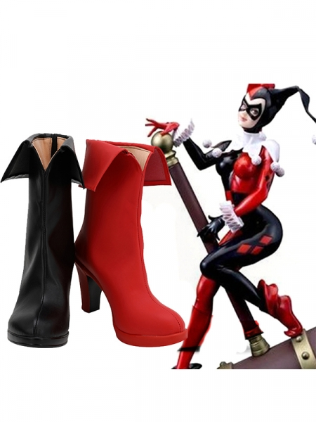 DC Comics Harley Quinn High Heel Cosplay Boots