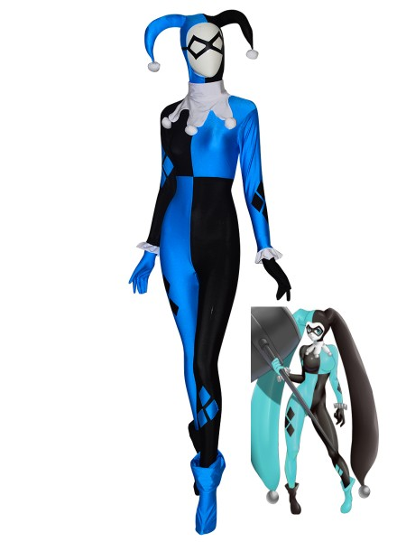 Harley Quinn Suit Supervillain Halloween Costume