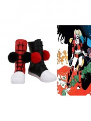 Batman Supervillain Harley Quinn Cosplay Boots