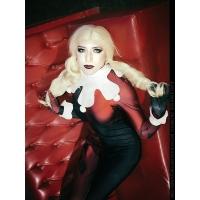 Harley Quinn DC Comics Super Villano Traje de impresión Cosplay