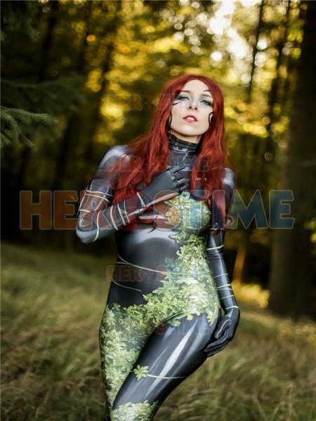 Traje de Plantgirl de Poison Ivy de Impresión de Tinte Disfraz de Cosplay