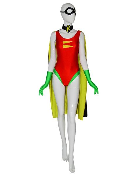 DC Comics Robin Carrie Kelley Spandex Disfraz de superhéroe