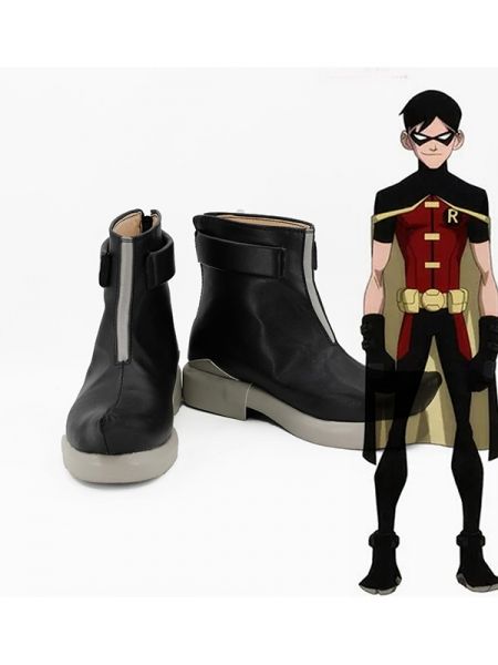 Young Justice Robin Superhero Cosplay Boots