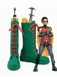 Batman Series Robin Green Superhero Cosplay Boots