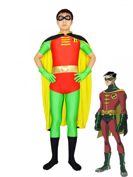 Robin Tim Drake Version Spandex Superhero Costume