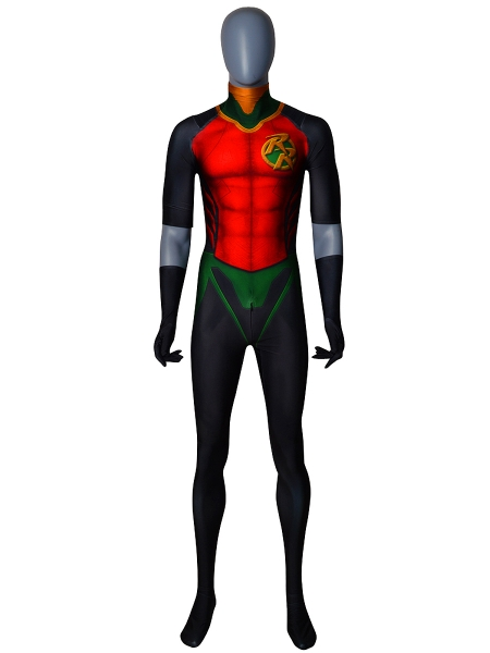 Traje de Rebirth Red Robin Cosplay Sin Capa