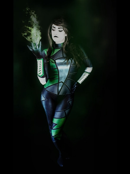 Traje de Shego de Kim Possible para Halloween Cosplay
