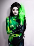Shego Of  Kim Possible Printing Super Villain Costume
