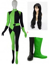 Shego Of Kim Possible Villain Cosplay Full Set