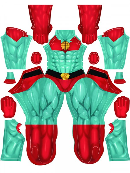 Captain Planet Cosplay Costume Strong Muscle Version