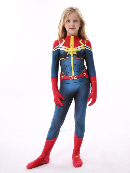 Kids Captain-Marvel Costume Kid Halloween Costume