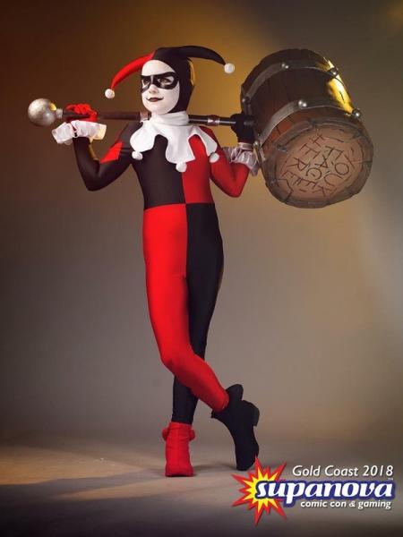 Disfraz clásico de Harley Quinn Cosplay para Niños