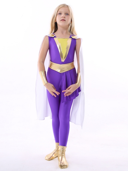 Shazam Family Darla Dudley Kids Cosplay Costume Kid Halloween Costume