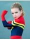 Kids Superhero Costume MsMarvel Carol Danvers Girls Superhero Costume