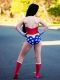 Kids Wonder Woman Suit Pre-52 Wonder Woman Printing Cosplay Costume