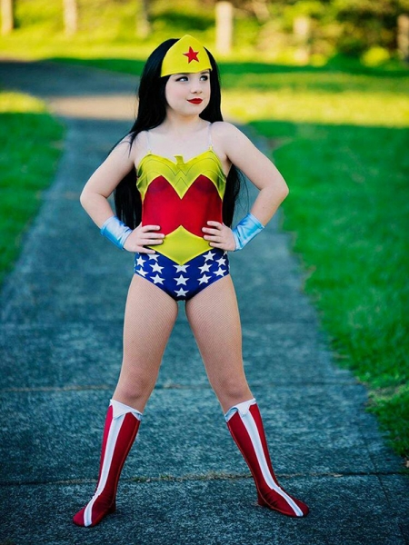 Kids Wonder Woman Suit Pre-52 Wonder Woman Printing Cosplay Costume