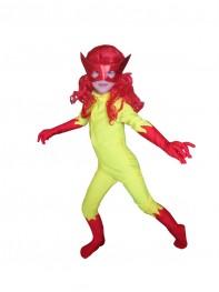Kids Firestar Spandex Girls Superhero Costume