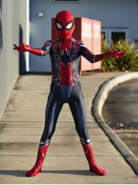 Kids Iron Spider Costume Iron Spiderman Homecoming Cosplay Suit