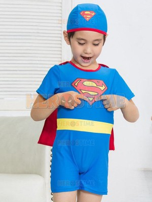 Kids' Superhero Swimsuit One-Piece Superman Swimsuit