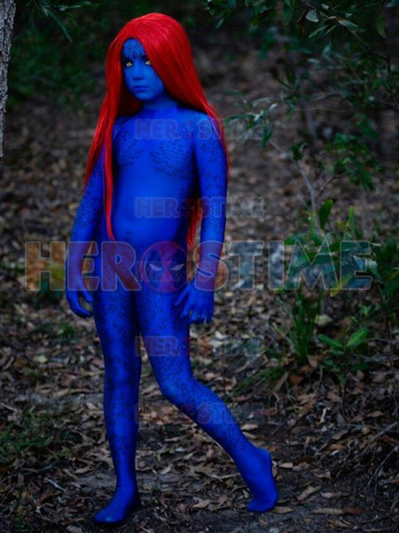 Mystique Cosplay Suit X-men Film Costume Kids Halloween Cosplay Costume