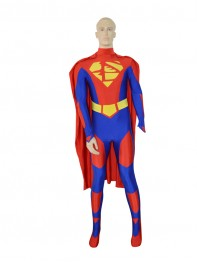 2015 Royal Blue & Red New Supa Lucha Custom Superhero Costume