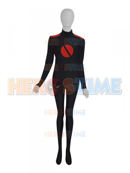 Black & Red Custom Superhero Costume