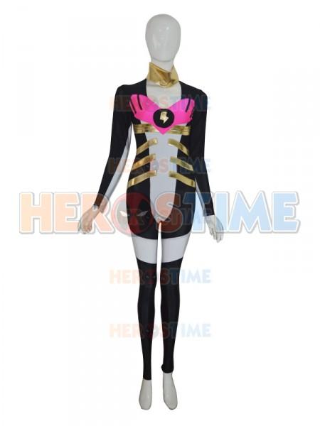 Black & White Custom Superhero Costume