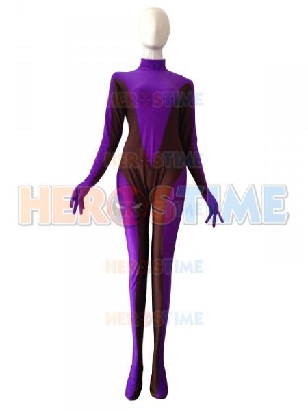 Kayle Purple and Brown Lycra Spandex Custom Costume