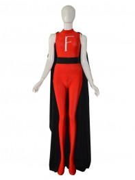 2014 Newest Custom Red F Female Superhero Costume