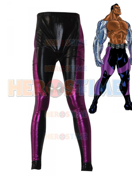 Jax Briggs Mortal Kombat Black Purple Shiny Metallic Superhero Pants