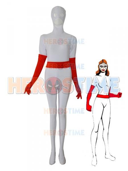 White Female Custom Superhero Costume