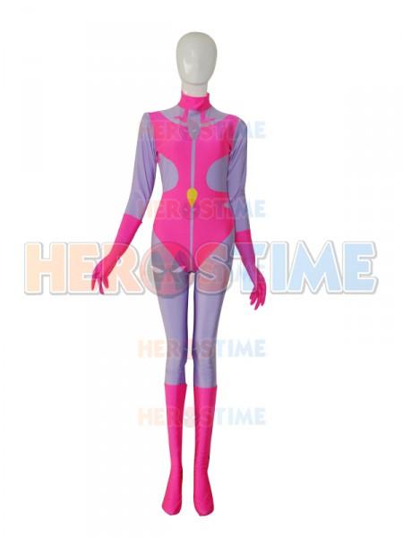 Mighty Lady Custom Pink & Purple Superhero Costume