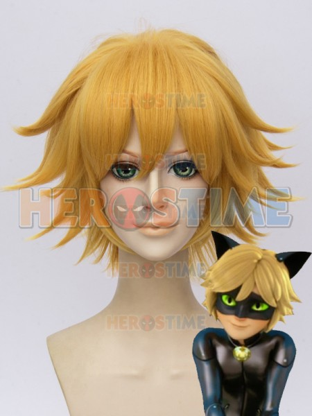 Miraculous: Tales of Ladybug & Cat Noir  Peluca Dorado de Cat Noir