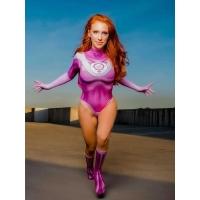 Disfraz de Atom Eve Disfraz de Cosplay de impresión de superhéroe femenina invencible