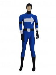 Deep Blue White Arrows Superhero Costume