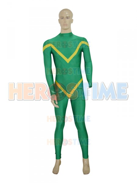 Deep Green & Yellow Custom Superhero Costume