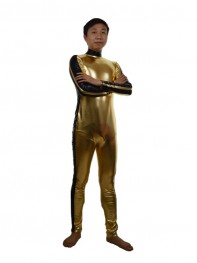 Golden & Black Shiny Custom Superhero Costume