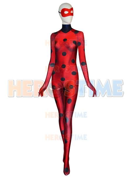Traje de Miraculous Ladybug de 3D impresión Cosplay para Mujeres