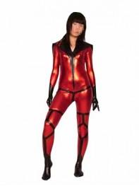 Dreamqueen Metallic Superhero Costume