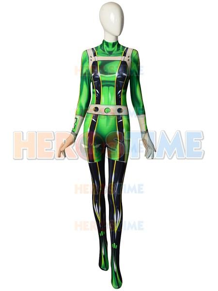 Disfraz de Froppy de Boku no Hero Academia Traje de Cosplay con accesorios